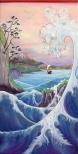 Große_Flußlandschaft_nach_Hiroshige_oil_oil-crayon_canvas_180x90cm