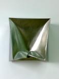 Ewerdt Hilgemann, Imploded Wallsculpture, 60x60x20cm, stainless steel, 1997