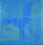 Antón Lamazares, Domus Omnia (blue), 200x190cm, mixed media on cardboard, 2009