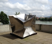 Cube Basel 200x200x200cm Stainless Steel 2013