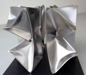 'Cube Flower',  4 parts, Stainless Steel 16x8x8 inch each 40x20x20 cm
