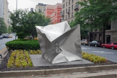 'Cube'  Stainless Steel 6.5 x 6.5 x 6.5 ft 200 x 200 x 200 cm, 2013 Private Collection NY Park Avenue intersection at 65 St