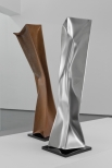 'Dancers (Tango)'  2 parts, Stainless & Cor-ten Steel 40x8x8 inch 100x20x20 cm