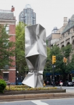 'Double' Stainless Steel 20 x 5 x 5 ft 600 x 150 x 150 cm, 2013 Park Avenue intersection at 64 St