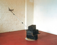 RUNDFLUG. Wood, Metal, Paint. 120x180x60cm, 2006.