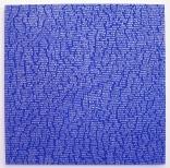 Jan Smejkal, Blau, Silverpen and acrylic on canvas, 150x150cm, 15.08.2004