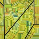 Manuel Ros Area 2 195x195cm acryl on canvas