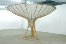 Space N° 2, Open Spaces, Galerie Kai Hilgemann, wood, fabric, h: 300 cm dia: 480 cm, 2006