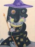 Daniel Thurau Don Quijotte, hoch zu Roß 30x40x5cm, 2011 Painting on wood