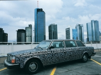 'Volkswagen', Volvo 264TE (former GDR State Limousine), 560x171x144cm, 1979, silver painted 2000