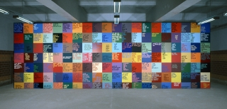 Jan Smejkal, Wandinstallation, Ausstellungsansicht, 2003