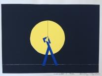 Herbert E.Wiegand Werkballett I 42x60cm, 2004 Lino print on paper