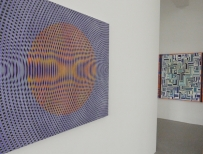 exhibition view John Aslanidis-Sonic Network  Manuel Ros-Blue Labyrinth