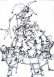 Échelle humaine 60x40cm 2010