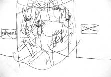 Donkey Drawing, Pen on Paper, 60 x 40 cm, 2006