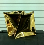 Golden Cube No.1 30x30x30cm Stainless steel, gold coated 2014