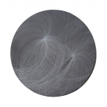 Wolski_Lunar Constellation I_ø48cm, diamond engraving on 2cm granite, 2010