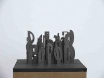 Gruppenbild, Stahl, 22x40x30cm