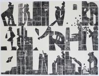 Handarbeit, Pappschnitt, 18 tlg.,300x390cm, ed.2, 2011