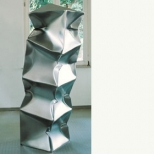 Ewerdt Hilgemann, Quad, imploded steel, stainless steel, 200 x 50 x 50 cm, 2004