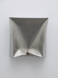 Hilgemann_Imploded Cube, 60 x 60 x 25cm, stainless steel, 1997
