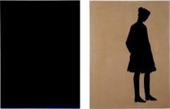 Berliner Blau II/V, each 200 x 150 cm, eggtempera on canvas, 2009
