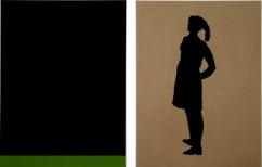 Berliner Blau X/VI, each 200 x 150 cm, eggtempera on canvas, 2009