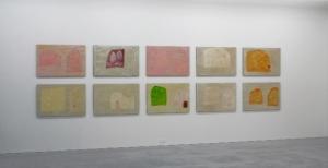 Anton Lamazares, Paintings from the series 'Domus Omnia', each 78x118cm, 2008