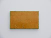Lamazares_Orange, 40 x 64cm, lacquer on cardboard, wood, 2012