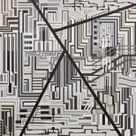 area 4, acrylic on canvas, 195x195, 2008
