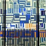 Manuel Ros, Blue Labyrinth II, 120x120cm, acryl on canvas, 2008