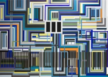 labyrinth, acrylic on canvas, 200x280,2008, private collection