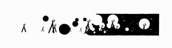 NACH DEM SPIEL IST VOR DEM SPIEL I. ed. 2, 70x240 cm, linocut, 2005