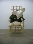 NAPOLEON IN TWEED, Wood, Fabric, Cloth, Glue, Tweed, Polyester, 280x155x120 cm, 2006
