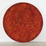 Bosco Sodi Red Circle, mixed media, diameter 250 cm, 2010, 