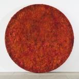 Bosco Sodi Red Circle, mixed media, diameter 250 cm, 2010,  private collection, Geneva