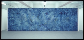 Bosco Sodi, Organic Blue, 400x1200cm, Galleryview, Collection Eugenio Lopez, Jumex Foundation, Mexico DF