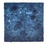 Bosco Sodi Organic Blue, 80x80cm, mixed media on canvas, 2009
