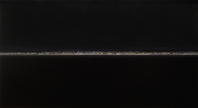 Peter Ruehle, barcelona reverse 2, oil on wood, 126x223cm, 2010