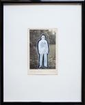 torsten ruehle, mann mit zigarette, 30x24cm, vinyl, glitter on vintage photograph, 2010