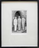 torsten ruehle, hausrat, 13x9cm, 30x24cm, vinyl, glitter on vintage photograph, 2010