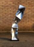 'Triple' Stainless Steel 35x7x7 in 90x18x18 cm