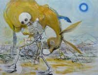 Stephen Wilks, Golden Donkey, acrylic on linen, 190 x 250 cm, 2009