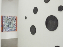 exhibition view Xawery Wolski-Lunar Constellations Manuel Ros-Blue Labyrinth